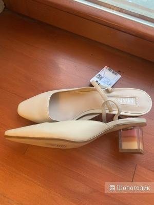 Туфли кожаные Mango 38 размер