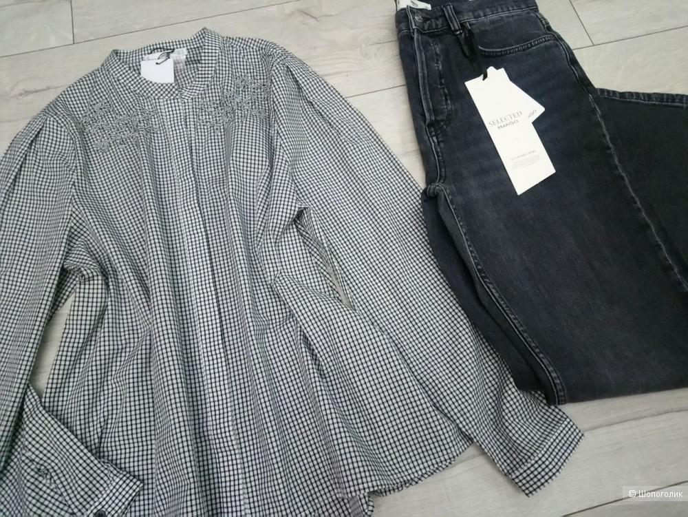 Рубашка с бисером манго, размер росс 48/50