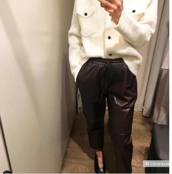 Кожаные брюки mango, размер М