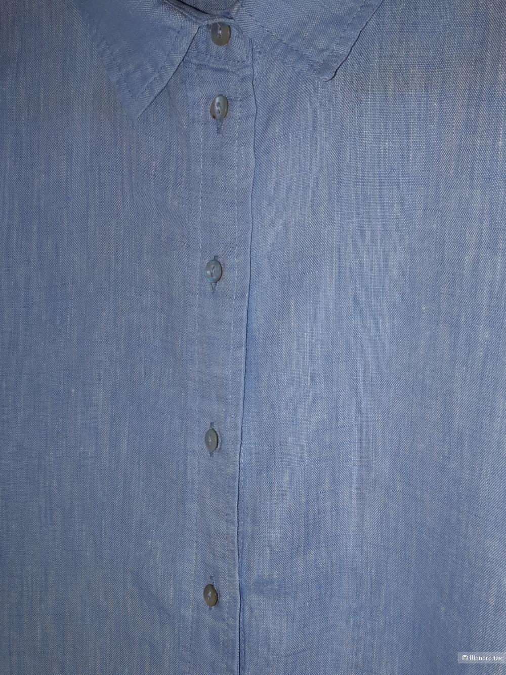 Льняная рубашка h&m, размер eur 36