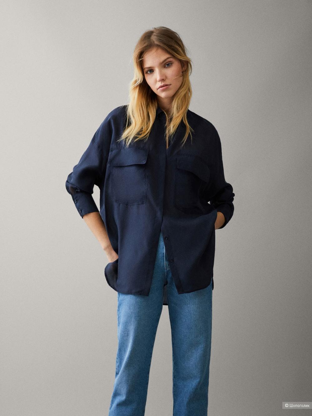 Блузка из шелка Massimo Dutti в размере М