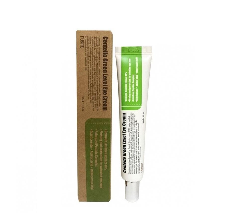 Подтягивающий крем для век с пептидами и центеллой Purito Centella Green Level Eye Cream