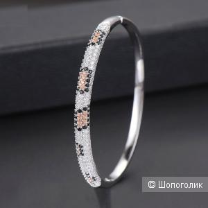 Леопардовый браслет с цирконами
