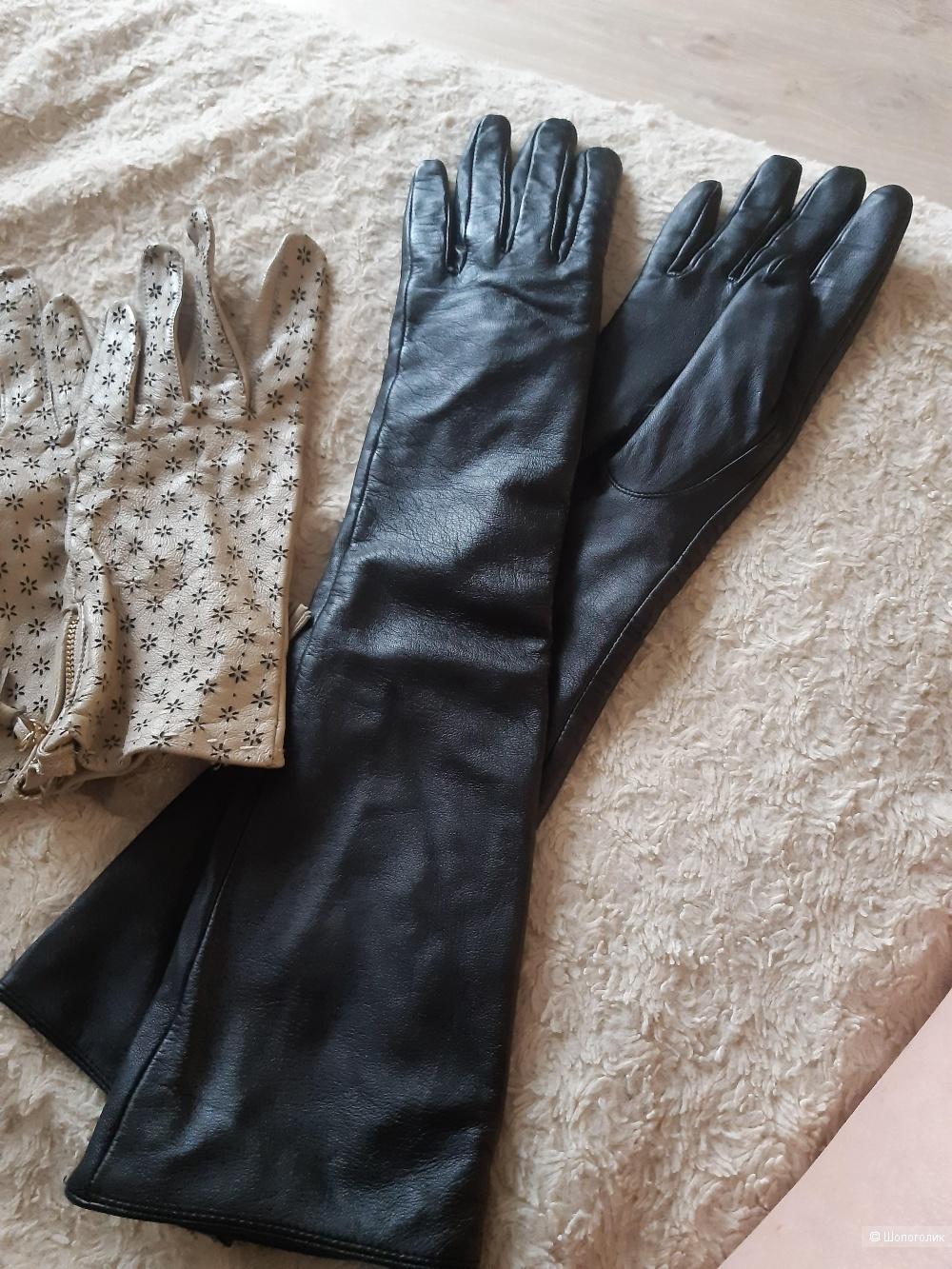 Перчатки кожаные М размер