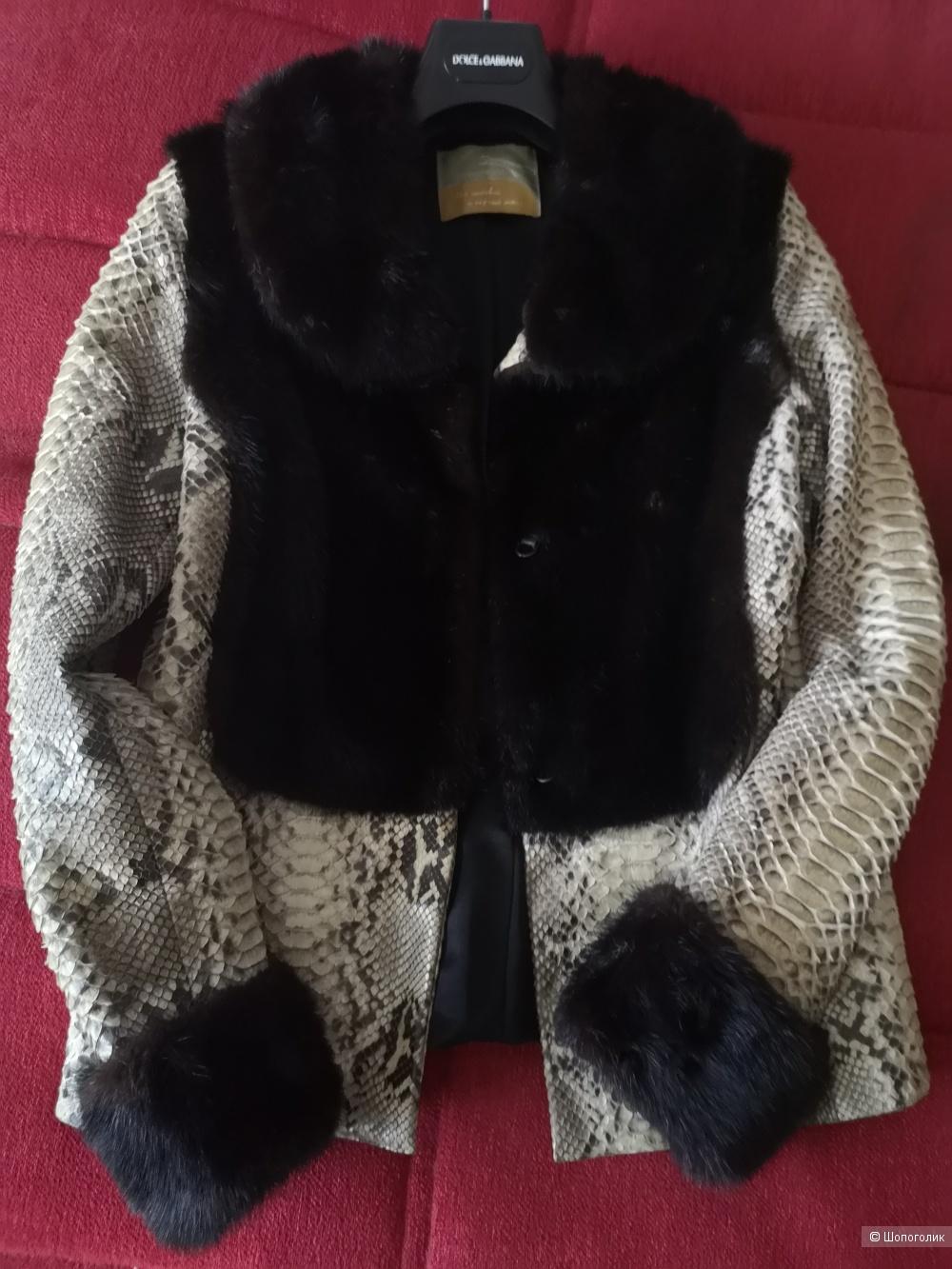 Куртка питон+норка, М