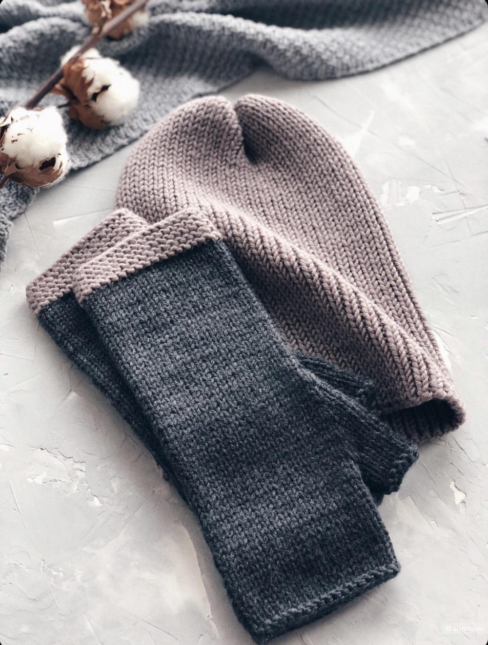 Комплект ( шапка и митенки ) Koalla.knits 54-58