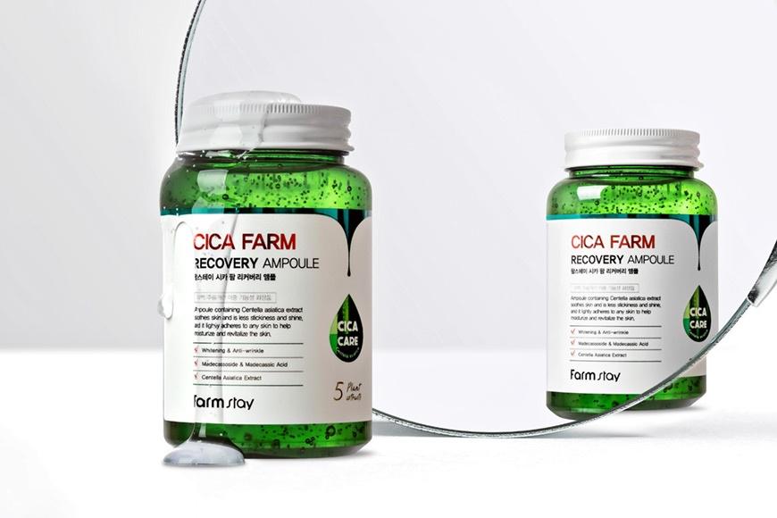 FarmStay Сыворотка ампульная с центеллой азиатской Cica farm recovery ampoule 250 мл