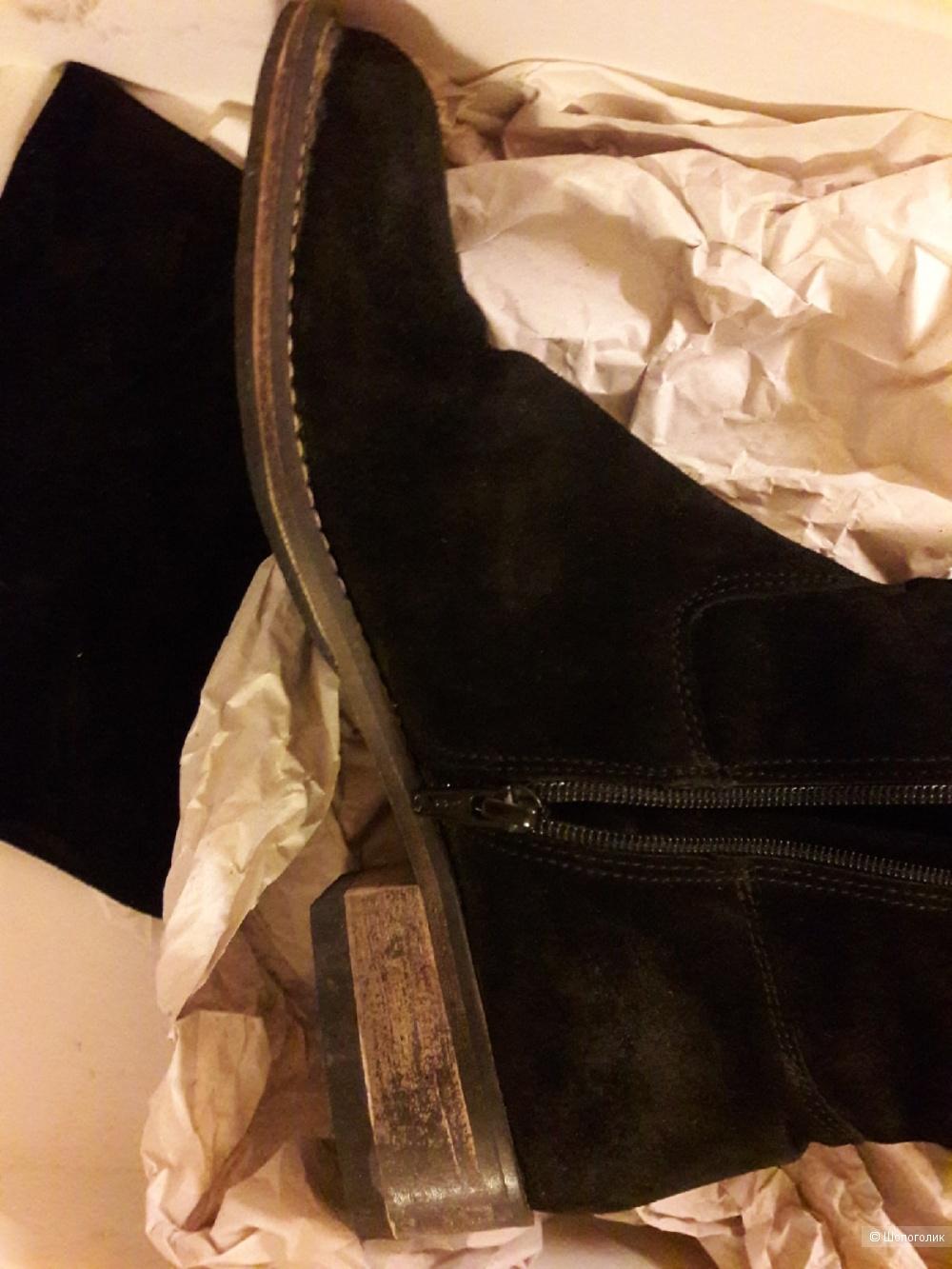 Ботфорты на меху VIOZZI NERO, 39 размер.