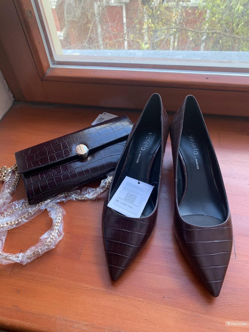Туфли +сумка Violeta by Mango 39 размер