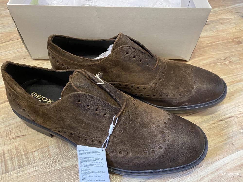Мужские туфли Geox, размер 46. По стельке 31,5 см.