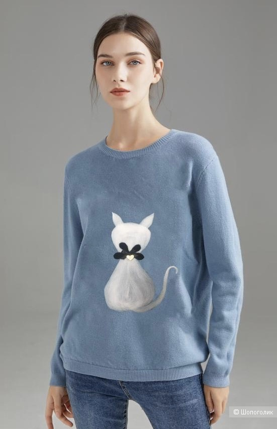 Джемпер объемная кошка с сердцем FINERY ITALY, 42-52