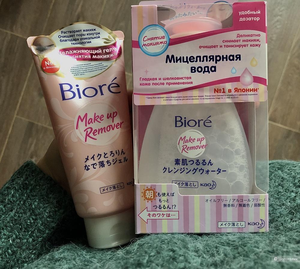 Лот мицеллярная вода и увлажняющий гель для снятия макияжа BIORE.