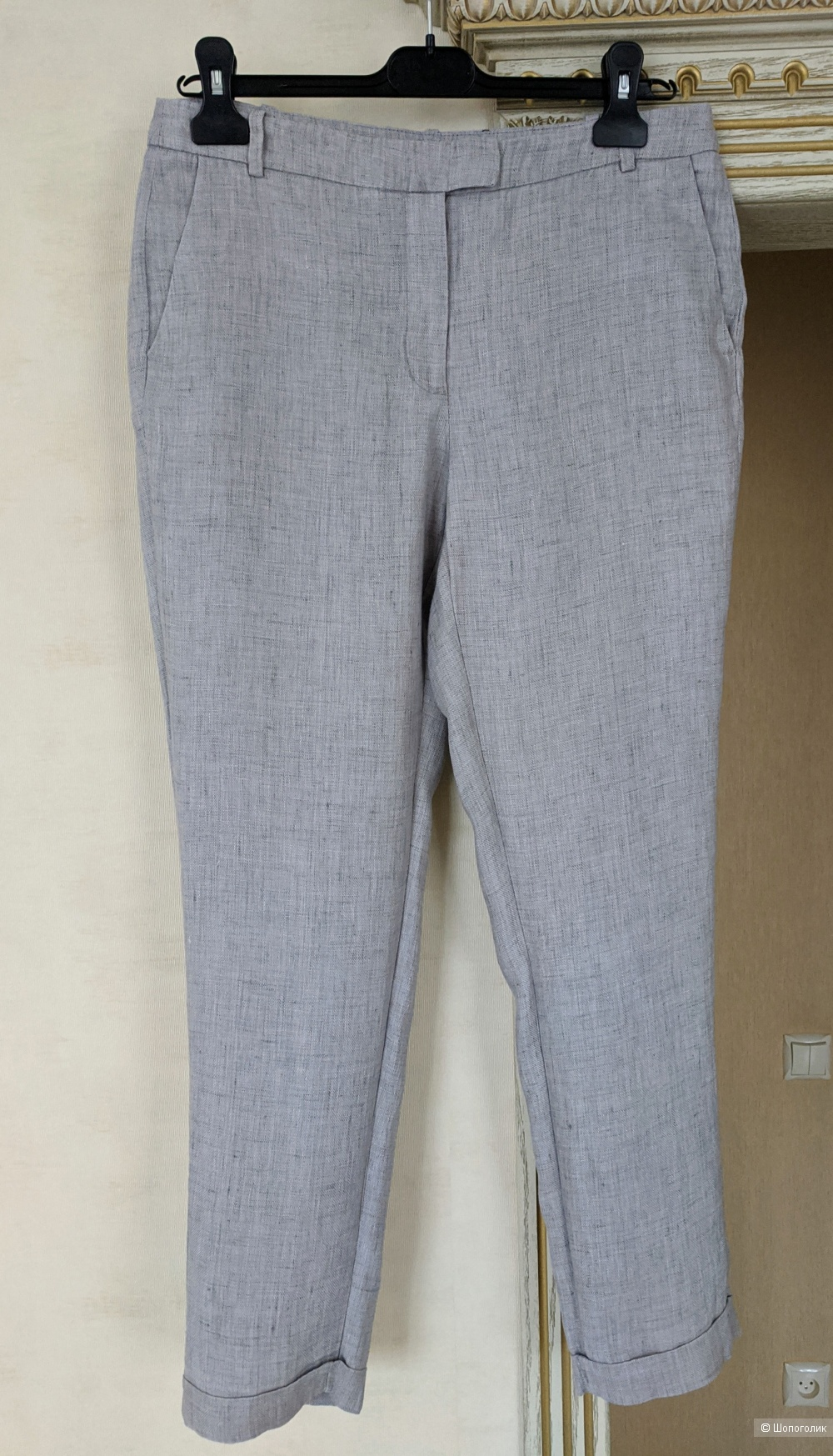 Льняные брюки, р 44-46