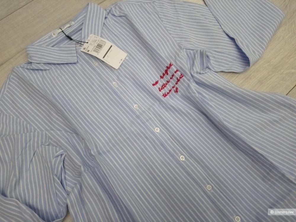 Рубашка свободного кроя манго, размер M
