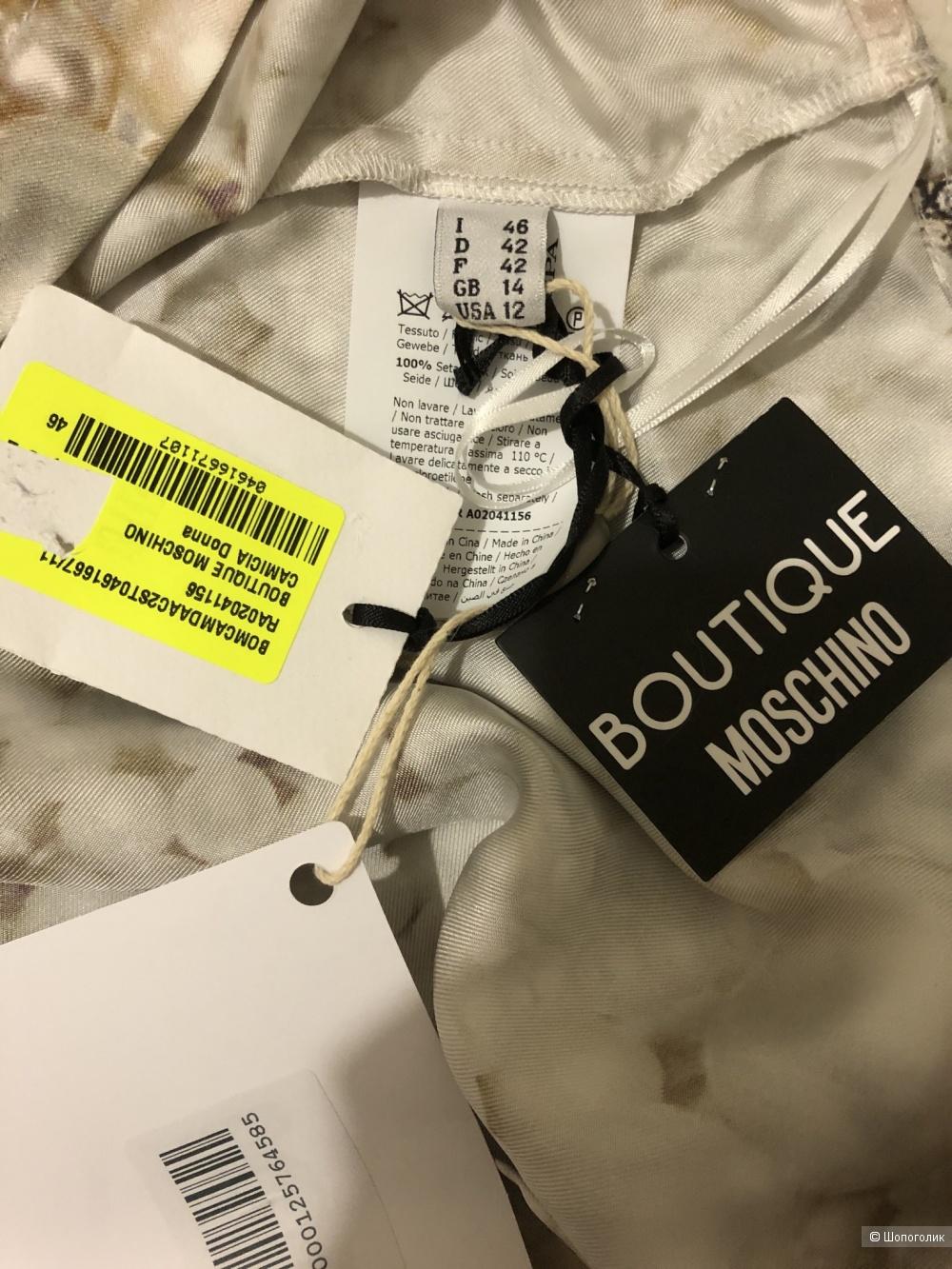 Шелковая блузка BOUTIQUE MOSCHINO р. 46 IT, 48 RU