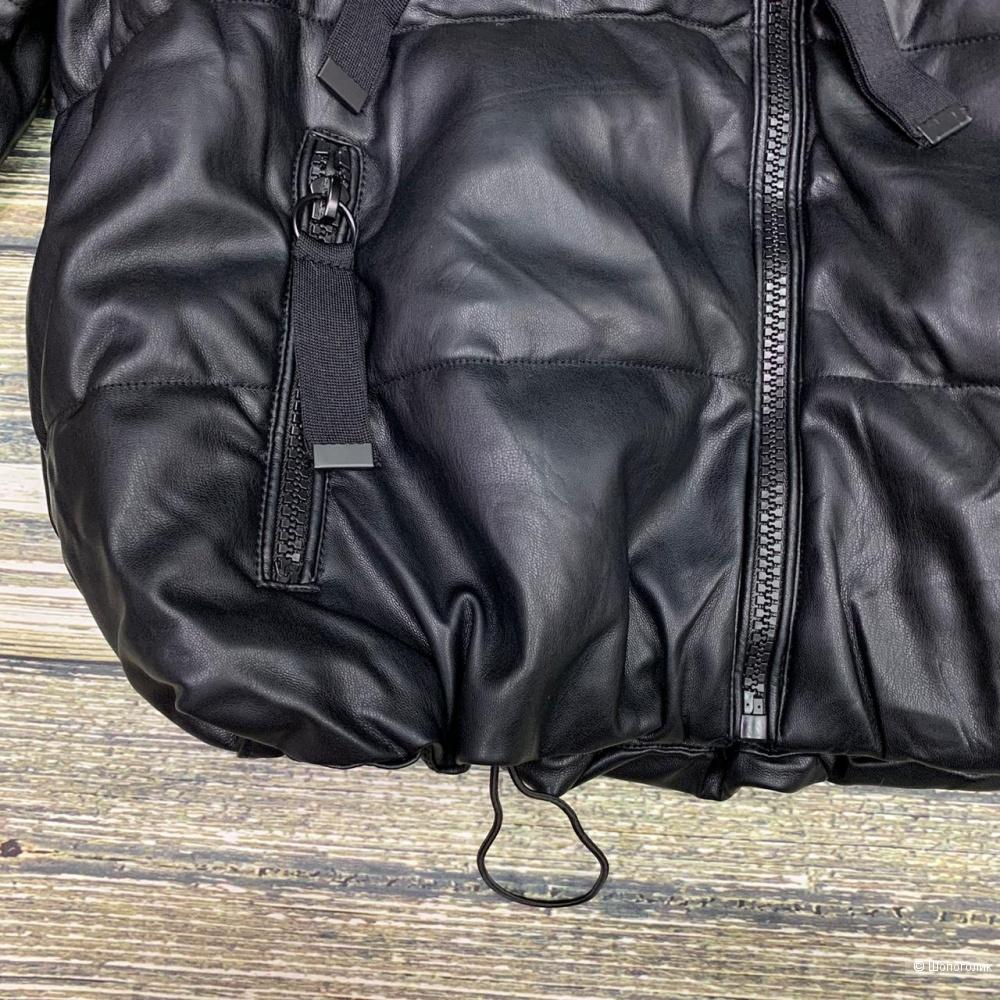 Пуховик куртка эко кожа BASIC, 42-48