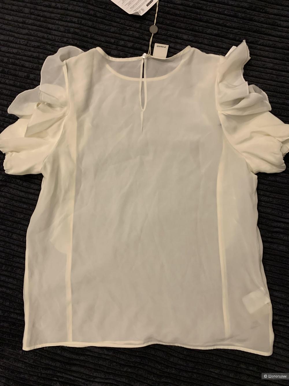 Шелковый топ-блузка PINKO размер it42-uk10-рус44