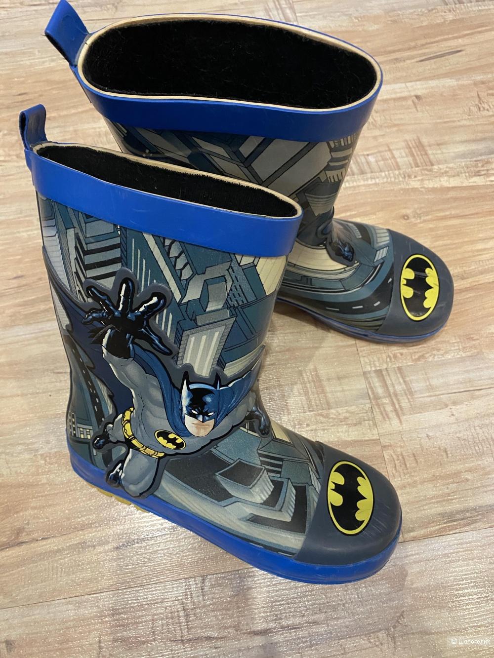 """Резиновые сапоги на мальчика """"Бэтмен"""". Размер 31-32. По стельке 20 см"""