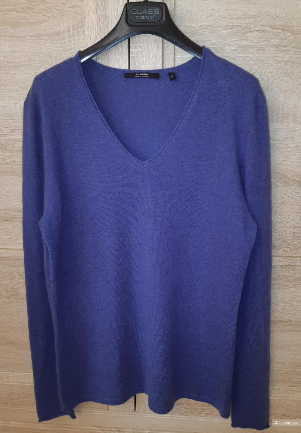 Кашемировый пуловер clarina collection, размер 46