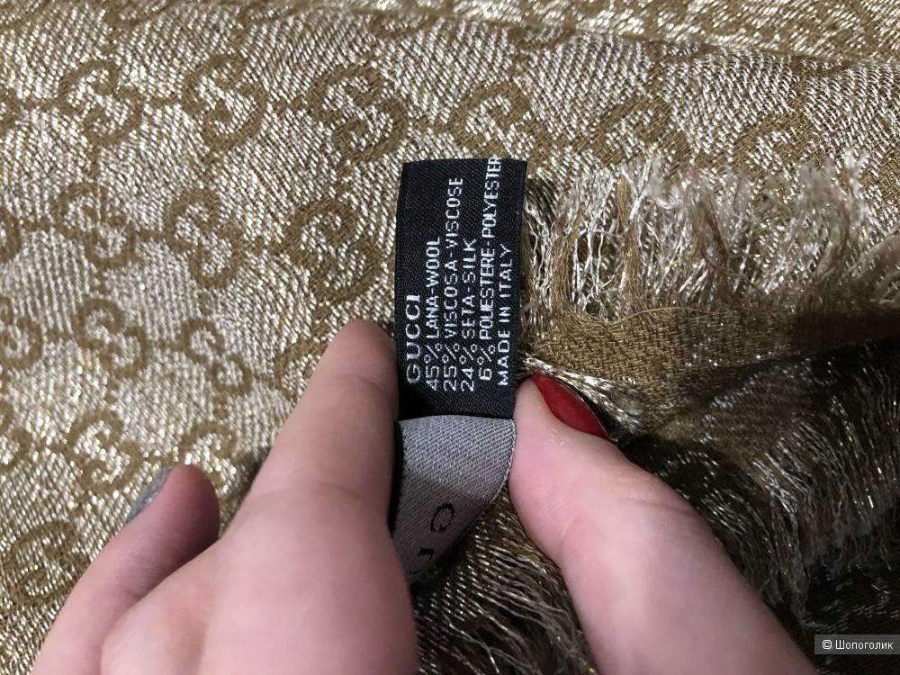 Палантин Gucci размер 194 на 69