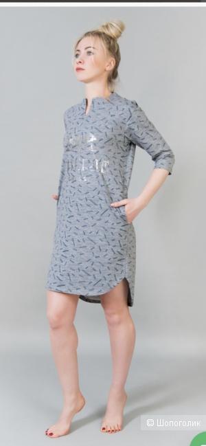 Домашний платье-туника,Ninel-Tex,размер 50