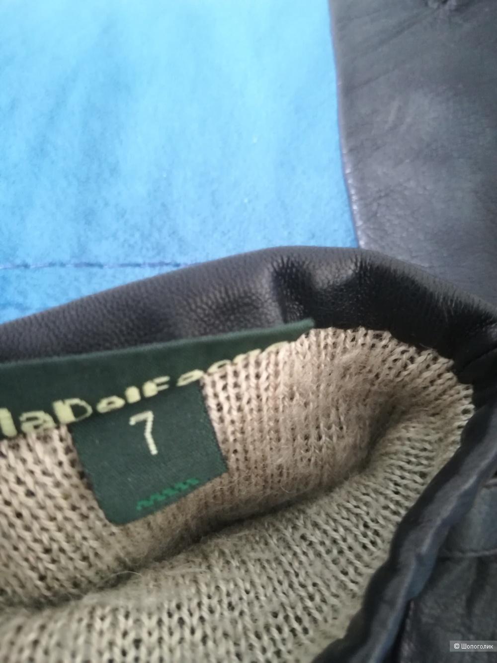 Перчатки кожаные villadelfaono, размер 7