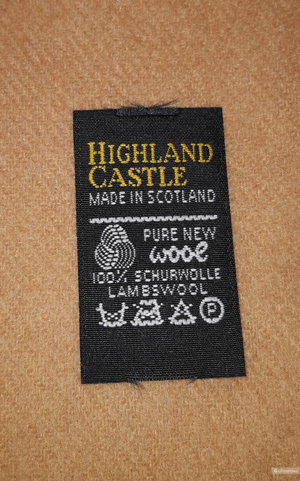 Шерстяной шарф highland castle, размер 30*160
