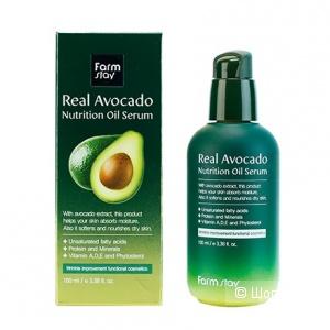 Питательная сыворотка с маслом авокадо FarmStay Real Avocado Nutrition Oil Serum
