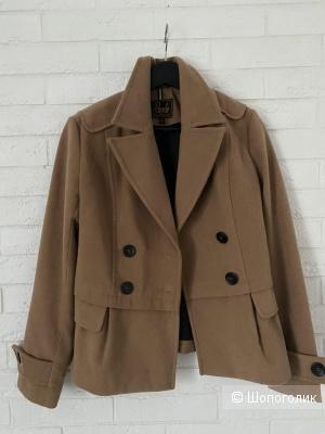 Полупальто короткое пальто пиджак 42 размер вельвет хлопок