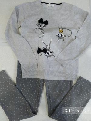 Сет джегинсы  Canada и свитер hm  размер 134