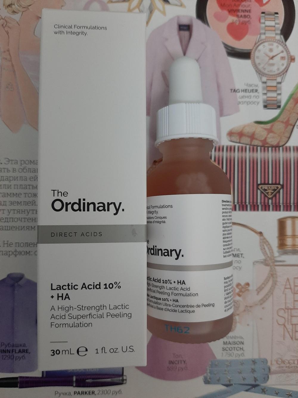 Сыворотка-пилинг The ORDINARY Lactic Acid 10%+ HA 30 ml