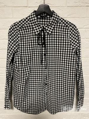 Рубашка с шнурком галстуком хлопок 42 Lime