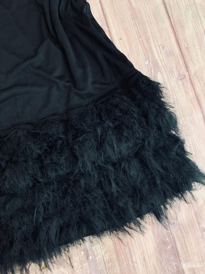 Платье с перьями от Diane von Furstenberg S