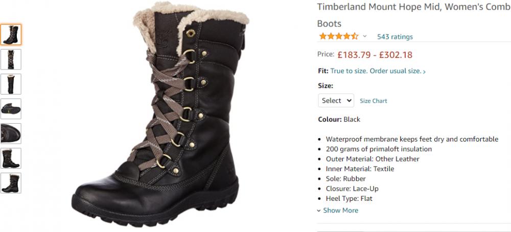 Сапоги / высокие ботинки Timberland , размер 36