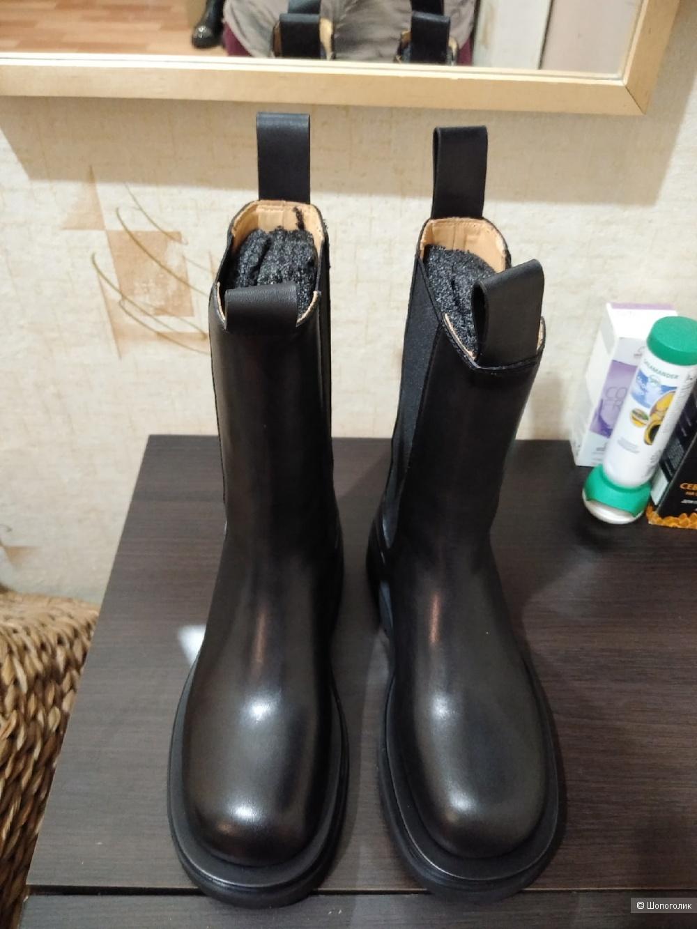 Высокие ботинки челси Bottega Veneta. Размер: 36 (на 36,5 - 23,7 см). Копия!