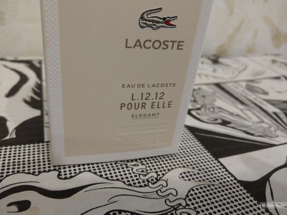LACOSTE L.12.12 Pour Elle Elegant парфюм 30 мл.