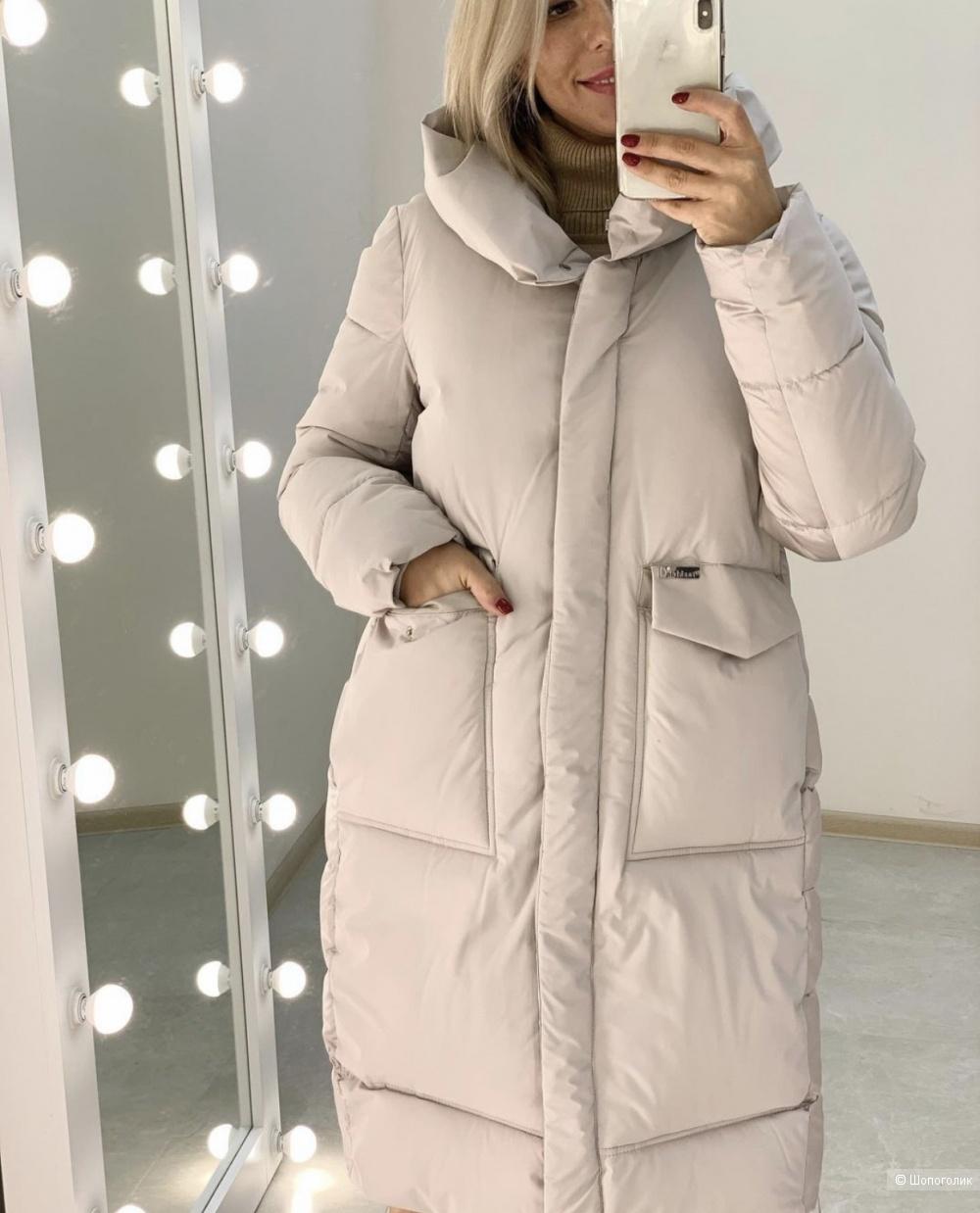Пуховик пальто MATTE объемный, 42-48