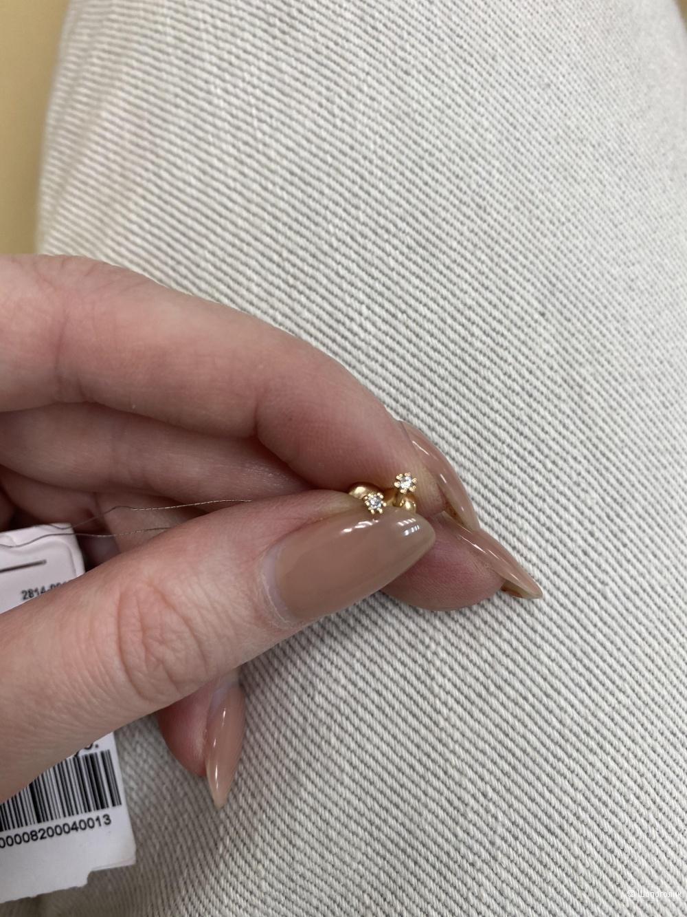 Пусеты(гвоздики на винтах) с бриллиантами