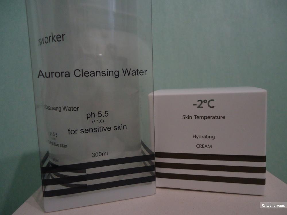 Очищающая вода  300мл + увлажняющий крем 50г Cosworker