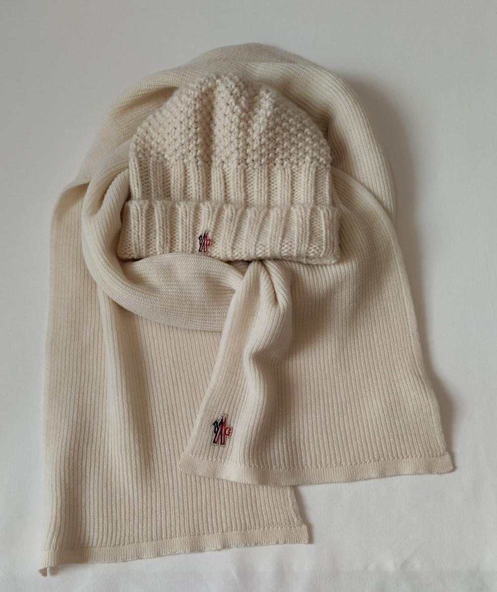 Комплект шарф и шапка Moncler, one size
