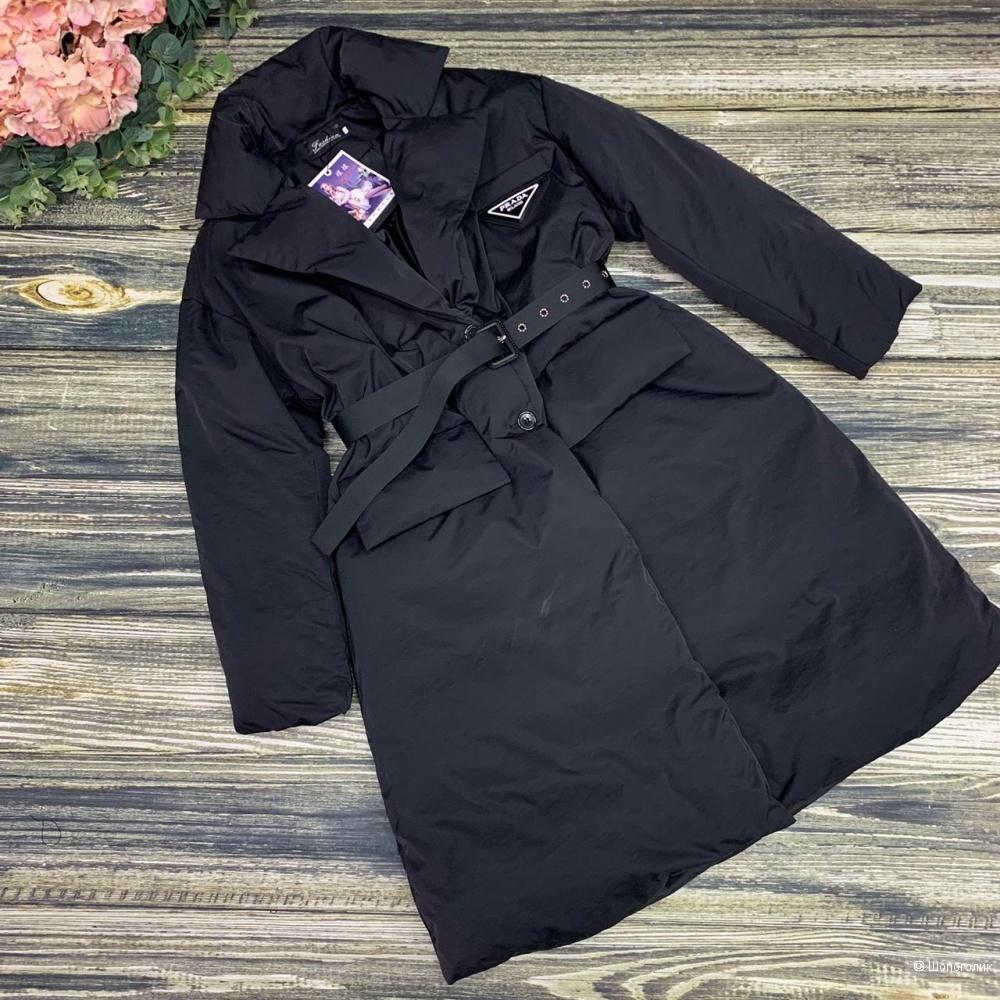 Пуховик пальто с поясом PRADA, 42-48