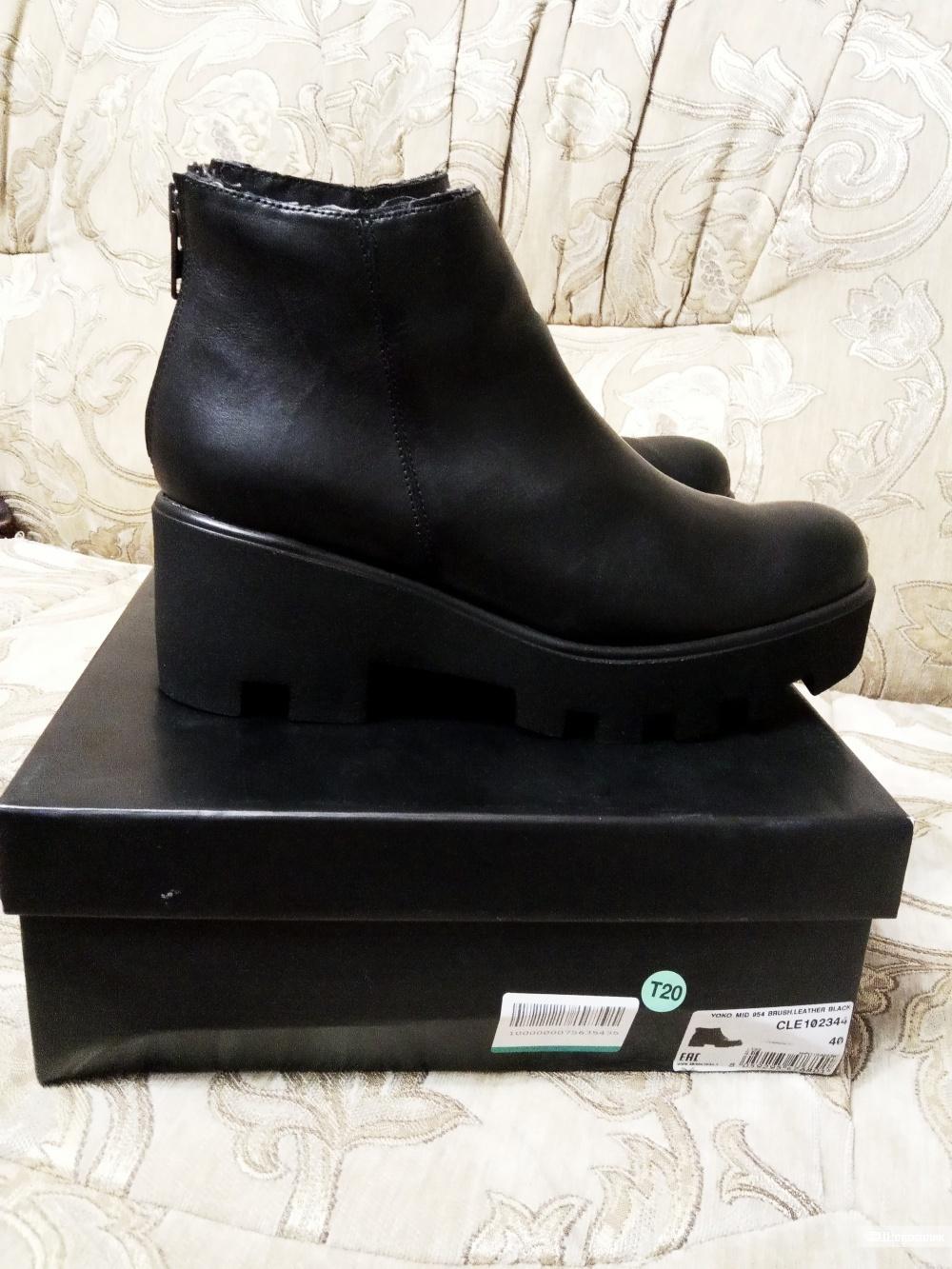 Ботинки кожаные CULT, размер 40.
