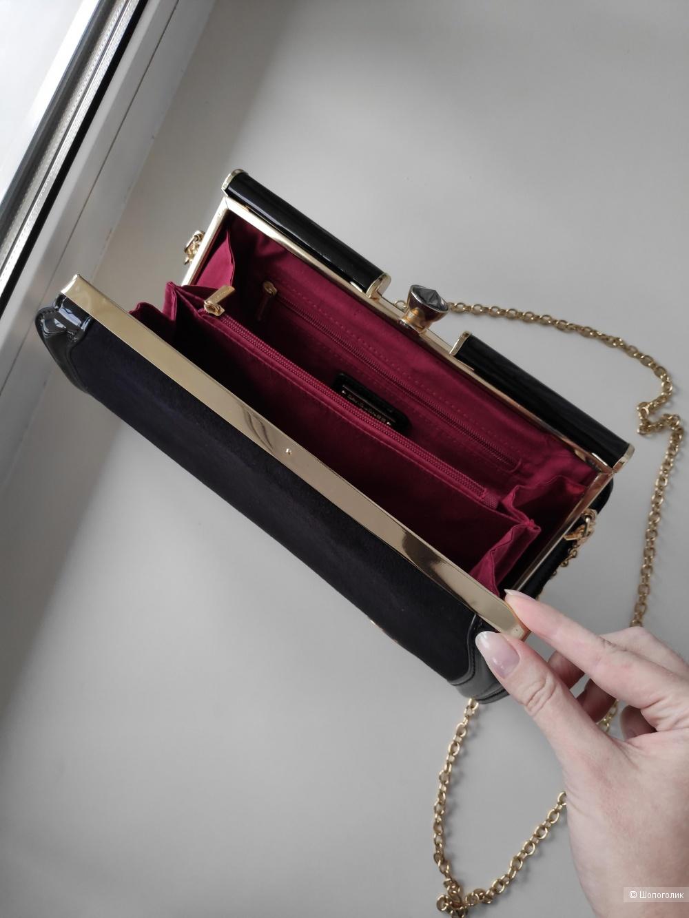 Замшевая сумка-клатч David Jones