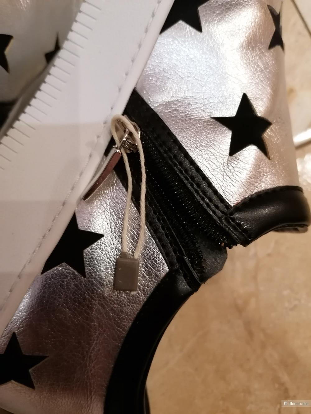 Кожаные слипоны My Grey 40 размера