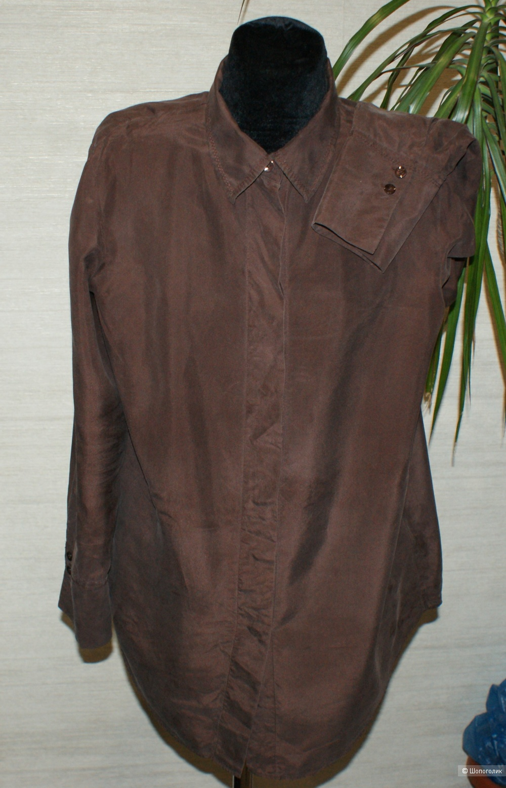 Шелковая рубашка Massimo Dutti, р-р 36 евр.