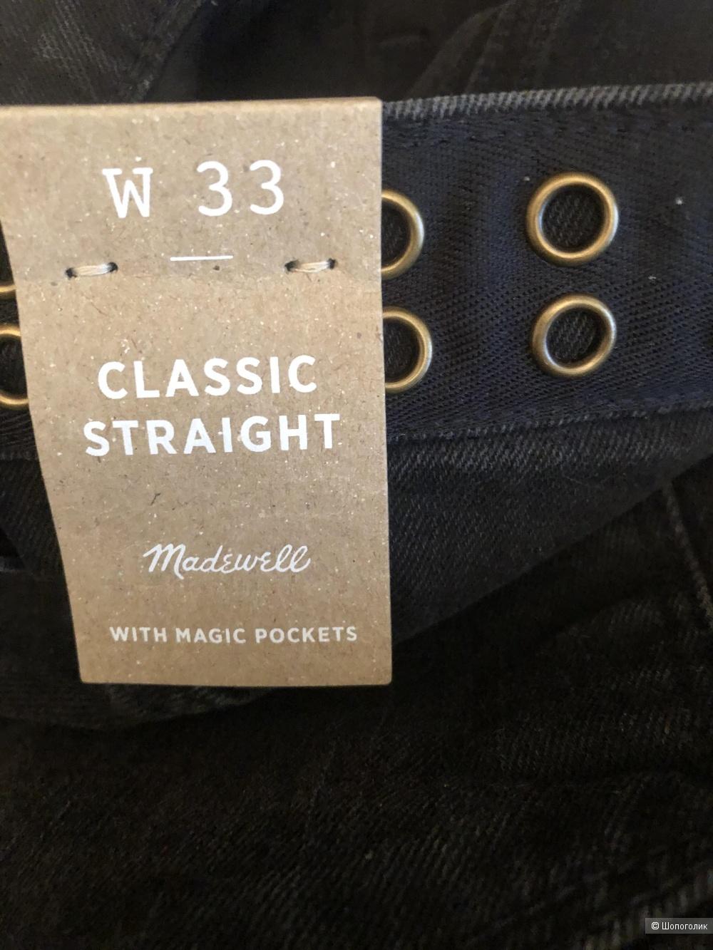 Джинсы Madewell, размер джинсовый 33 (на российский 50-52)