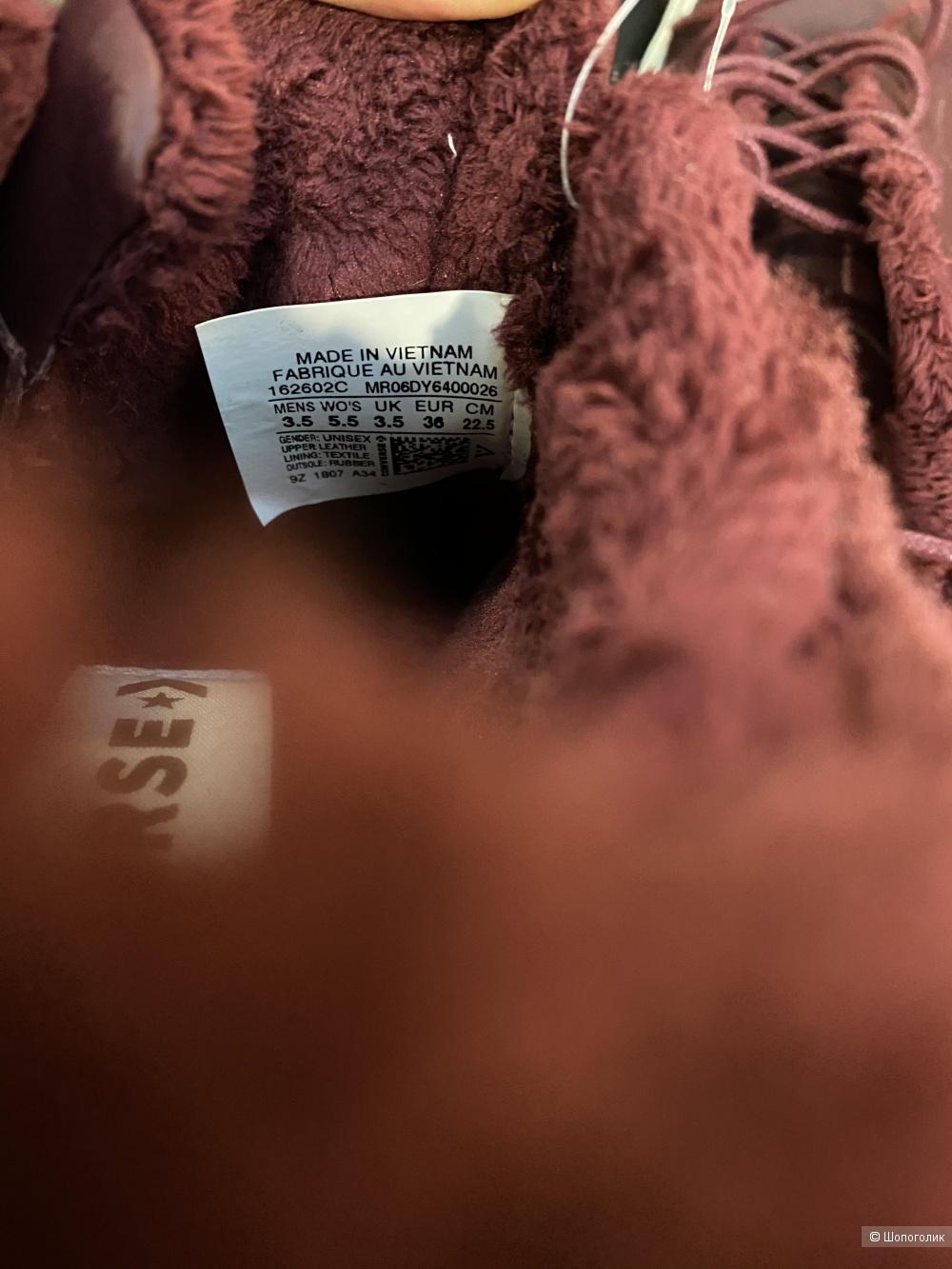 Кожаные утеплённые кеды Converse, pp 36, 23 см