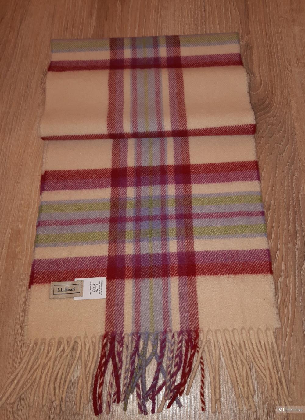 Шерстяной шарф l.l.bean, размер 29*155
