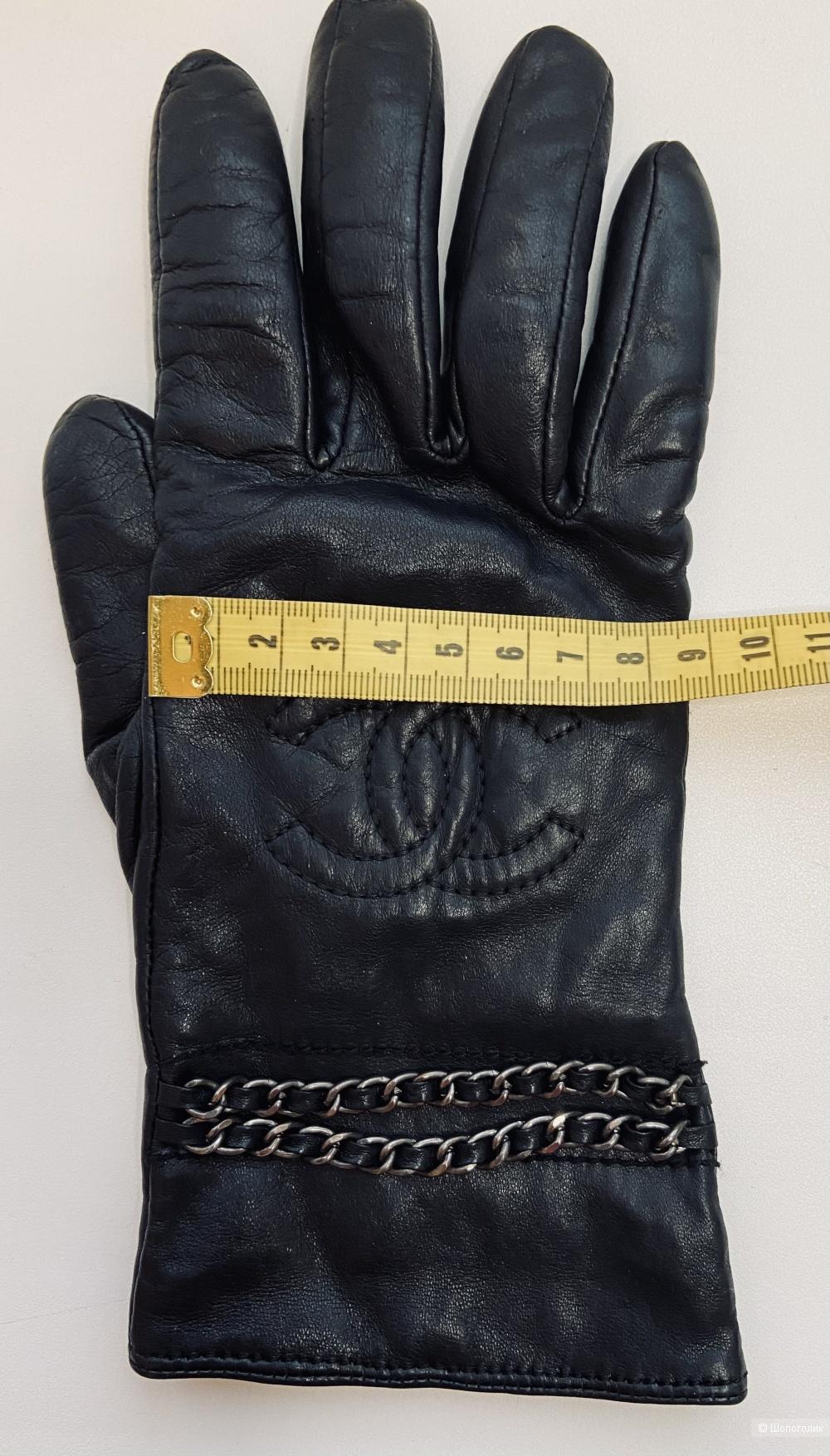 Перчатки Chanel кожа р-р 7