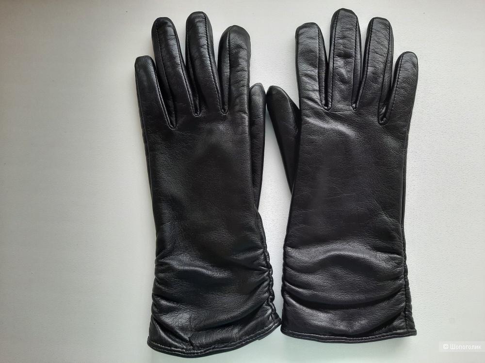 Перчатки Farella женские натуральная кожа черные р.6,5